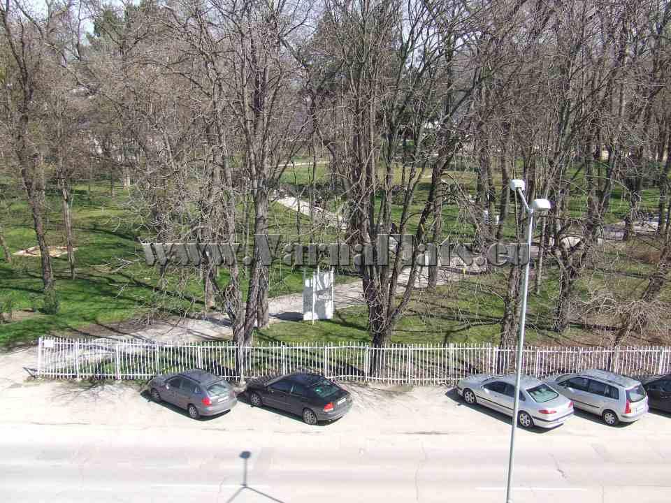 Изглед към парк от студиото